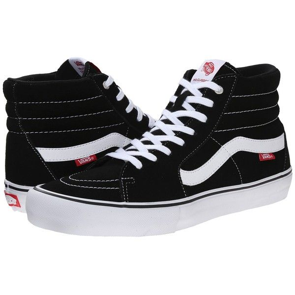 Vans SK8-Hi Pro (Black/White/Gum) Men's Skate Shoes (