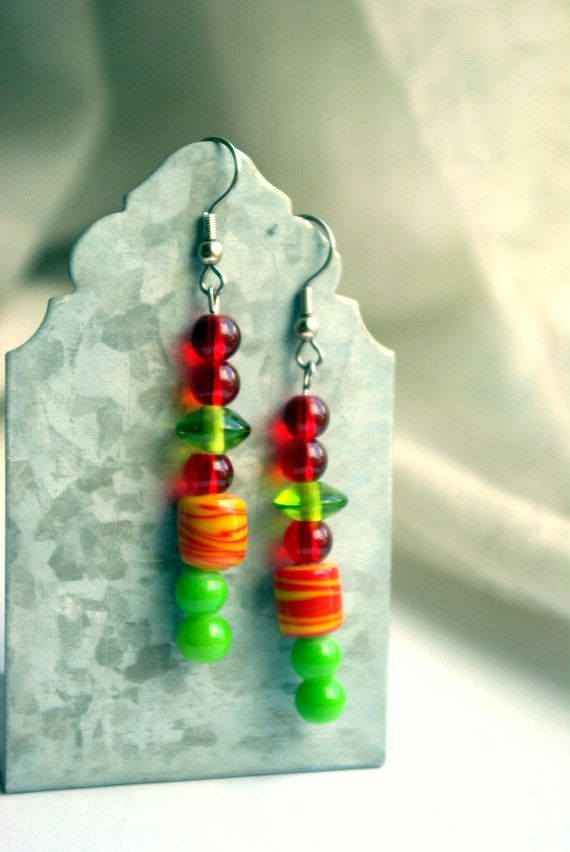 Earrings/Quote Cabana Cool by Mary by branchonthebeadtree on Etsy, $15.00