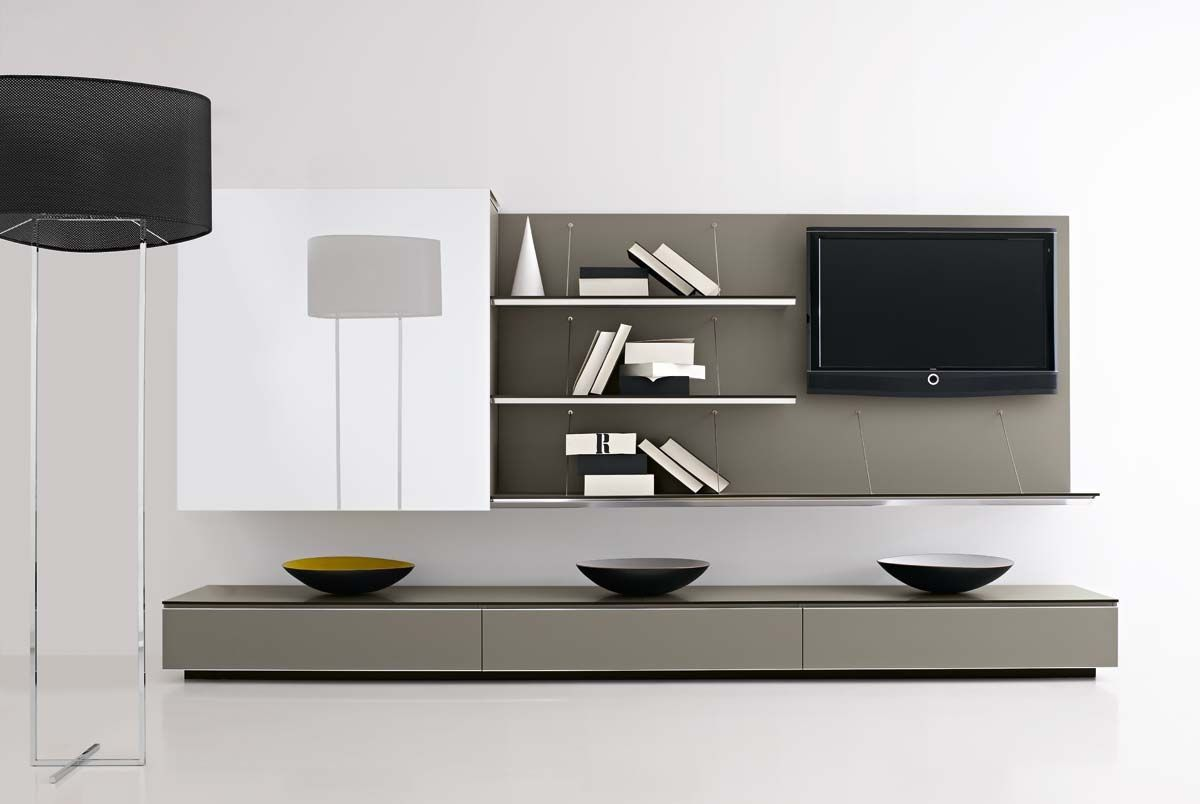 Contemporary tv wall units google search basement for Modern tv unit design ideas