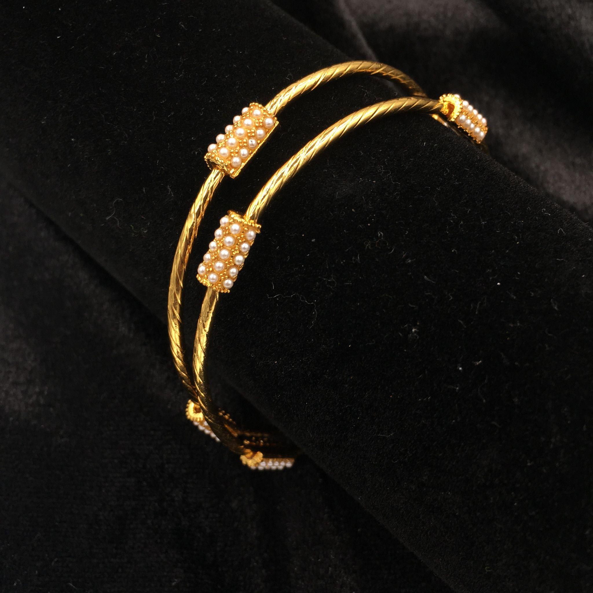 Thin motigolden bangles chan antiques pinterest joyas