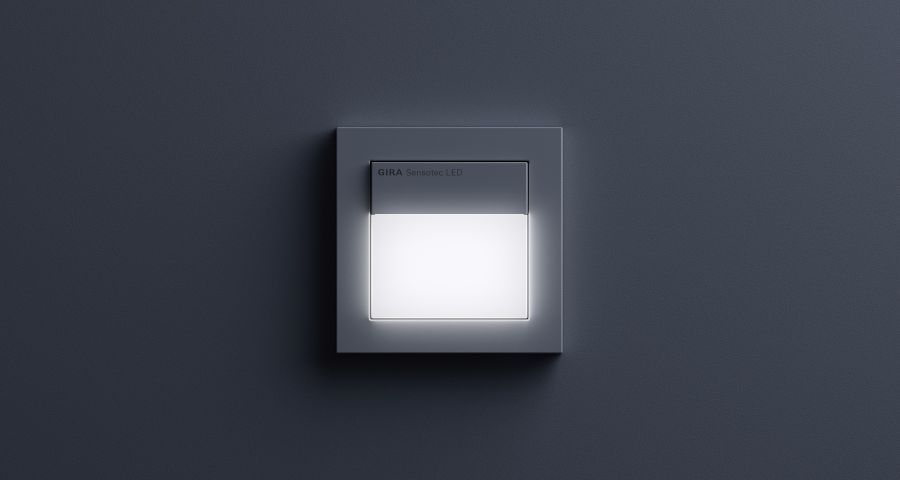 Gira Sensotec Led Motion Detector With Orientation Light And Contactless Switch Led Motion Detector Light Switch