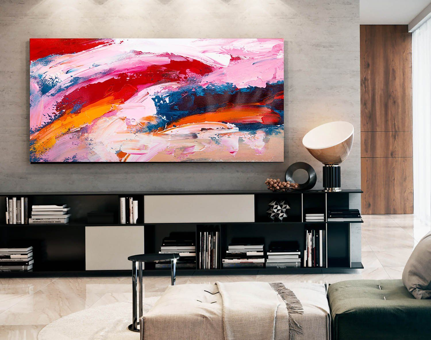Large Modern Wall Art Painting Large Abstract Wall Art Oil Hand