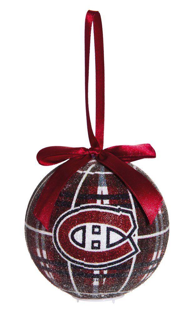 montreal canadiens habs hockey christmas ornament illuminated ball - Hockey Christmas Ornaments