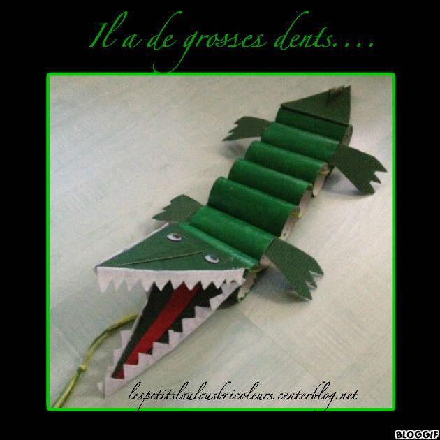 Crocodile rouleaux papier toilette peinture feutrine for Peinture crocodile