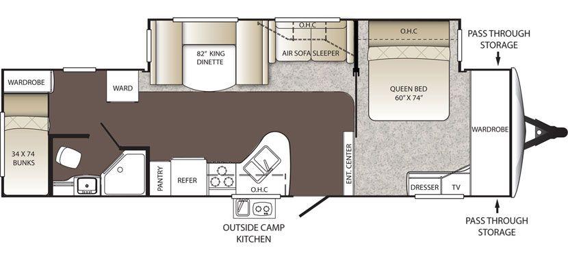 Keystone Rv 320bh Floorplan Floor Plans