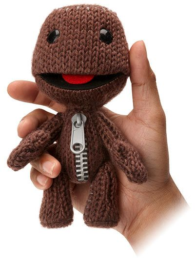 Little Big Planet Knitted Plush For 999 Thinkgeek Because