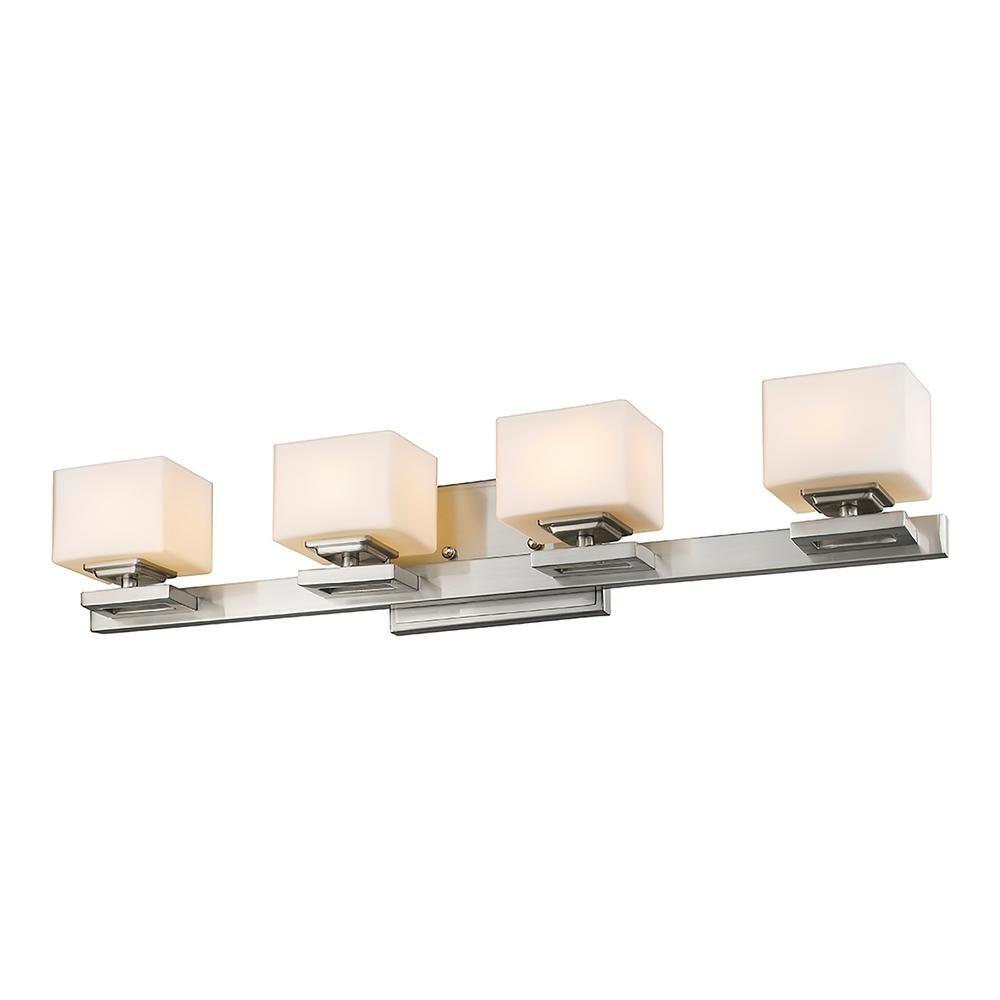 Photo of Filament Design 4-Light Brushed Nickel LED Bath Light-HD-TE068825 – The Home Depot