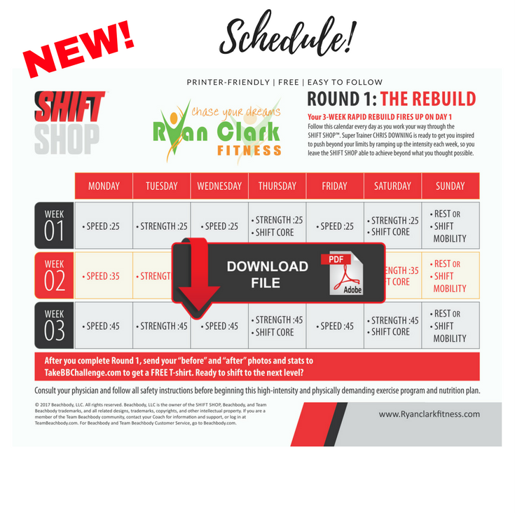 Do You Want A Shift Shop Workout Calendar That Doesn T Use As Much Ink As The Original Print Out T Workout Calendar Beachbody Workout Program Workout Sheets