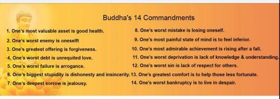 Buddha's Commandments