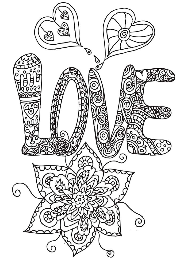 Heart flower heart abstract doodle zentangle zendoodle paisley coloring pages colouring adult - Dessin pour anniversaire adulte ...