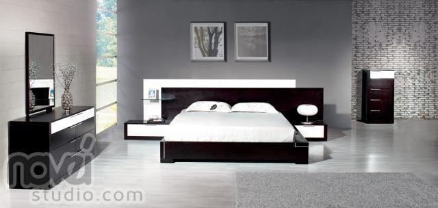 Black n white bedroom Home ideas Pinterest Bedrooms