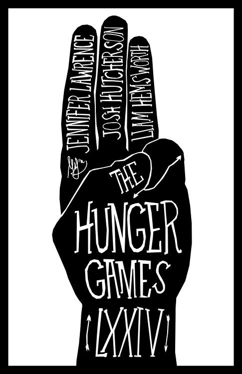 the hunger games poster or book cover design graphic Hunger