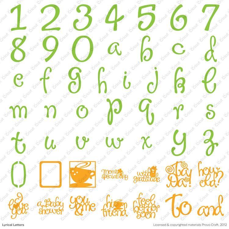 Cricut Lyrical Letters 2 Cartridge