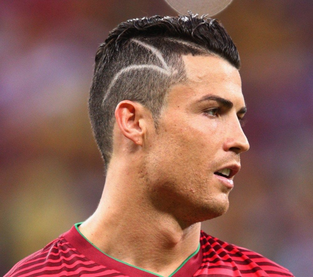 Cristiano Ronaldo Got An Awesome Haircut Before Playing The Soccer Match Cristiano Ronaldo Hairstyle Ronaldo Haircut Cristiano Ronaldo 2014