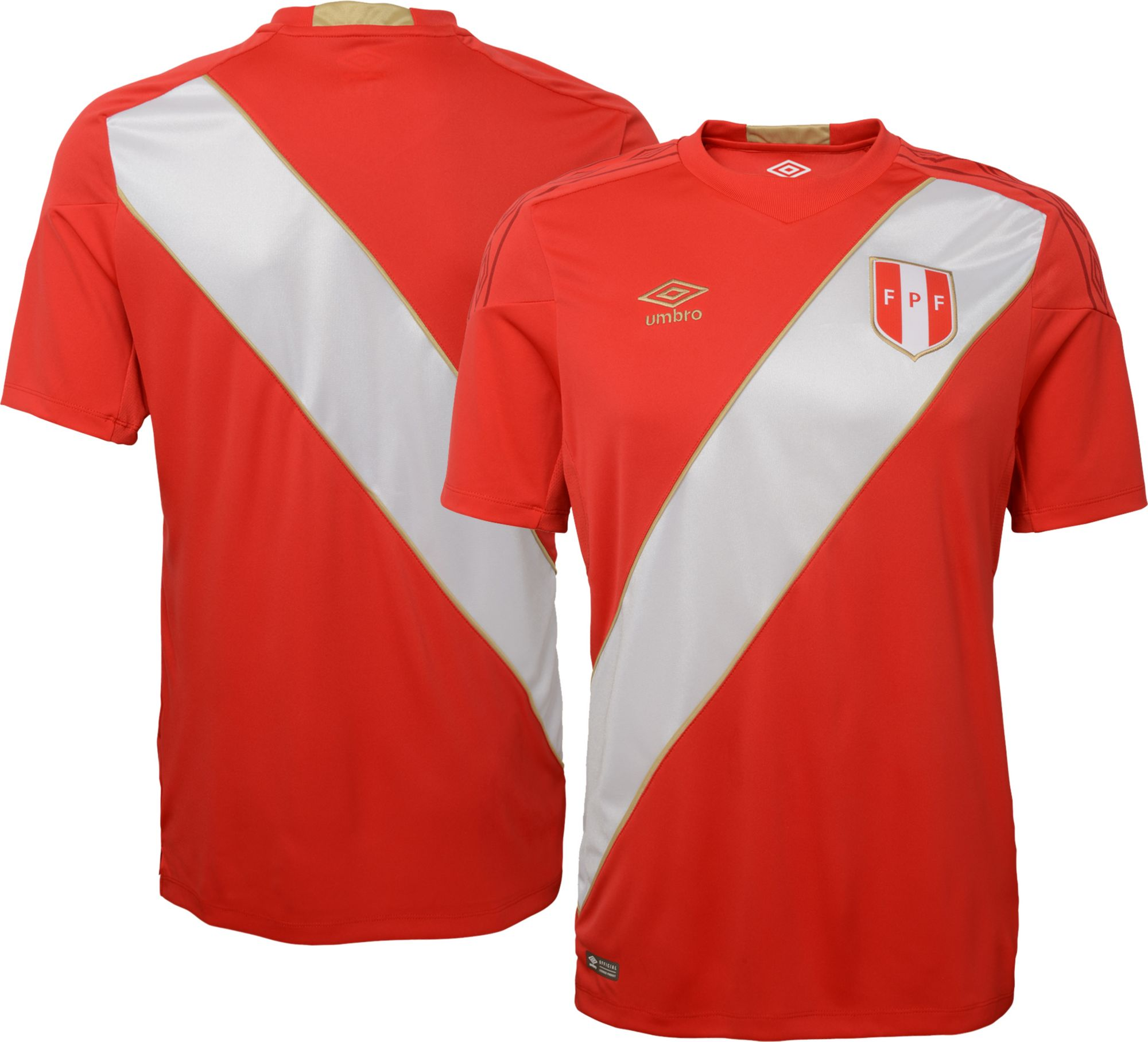 b2d0098a4 Umbro Men s 2018 Fifa World Cup Peru Away Replica Jersey