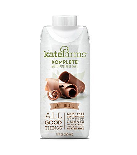 Kate Farms Komplete Meal Replacement Shake Chocolate 2 Case Special For More Information Vis Meal Replacement Meal Replacement Shakes Replacement Shakes
