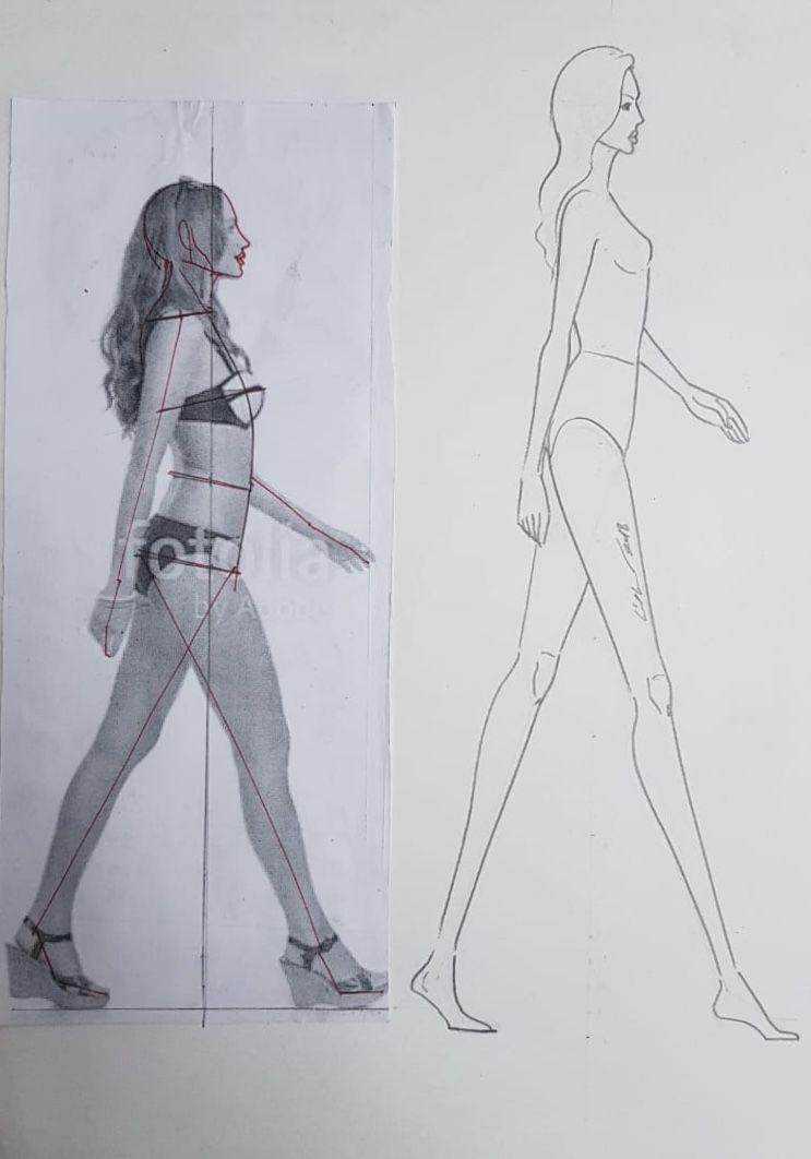 Fashion Figure Analysis Of Side View Fashion Illustration Template Fashion Illustration Tutorial Croquis Fashion