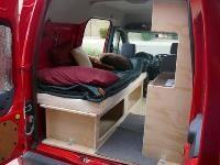 Ford Transit Connect Camper Bedding