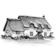 Image Result For How To Draw A Thatched Cottage
