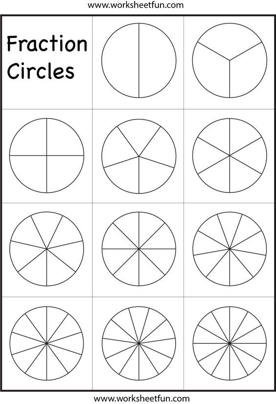 Critical image with regard to printable fraction circles