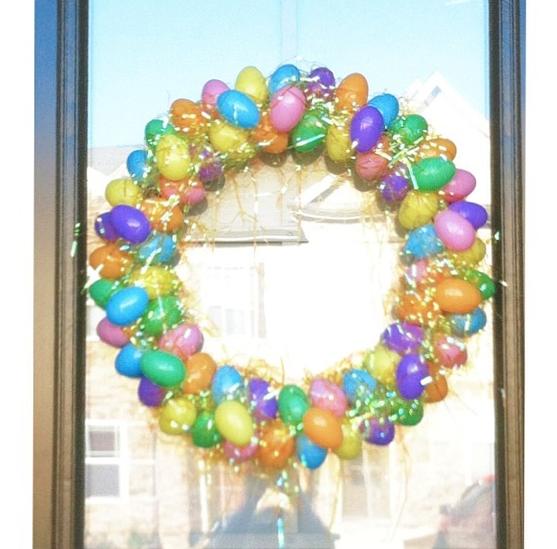 Home Decor Stores Raleigh Nc: DIY Easter Wreath, Easter Egg Wreath