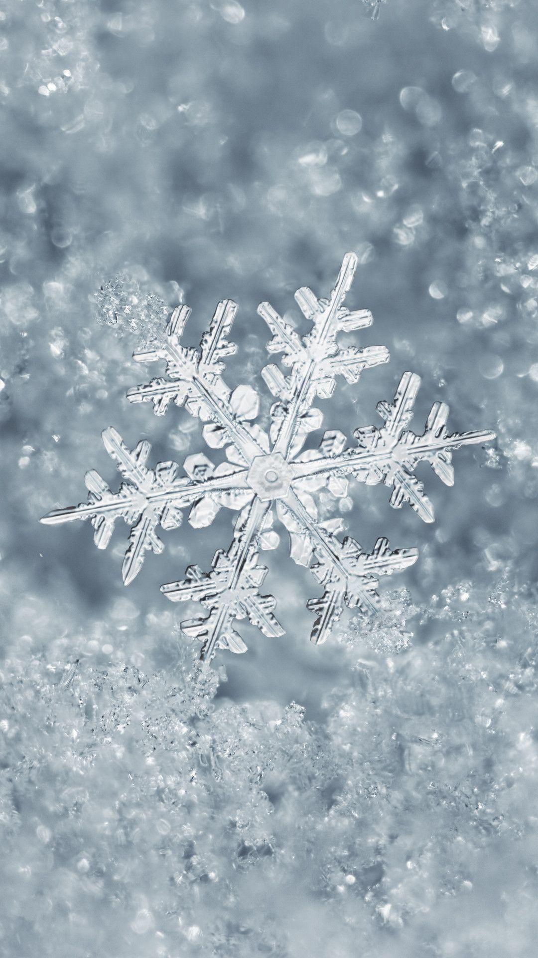 Snowflake Iphone Wallpaper スノーフレーク 背景 冬の景色
