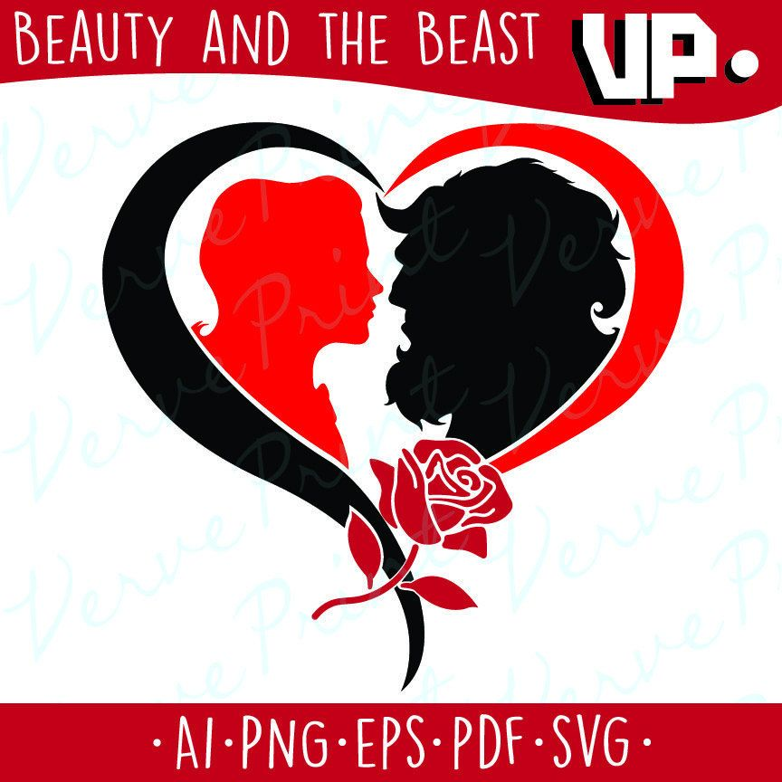Beauty And The Beast SVG Ai Eps Pdf Cutting File Vector Clipart