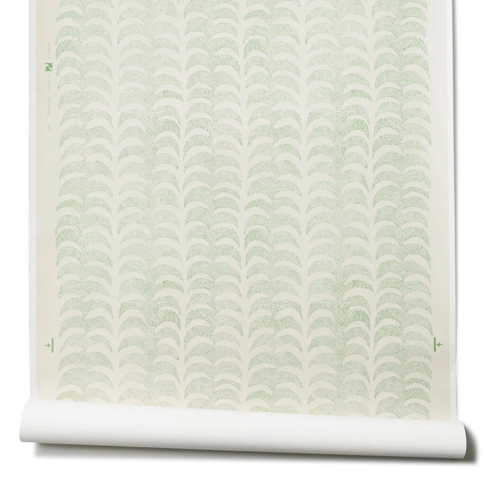 Dotted Palm Wallpaper in Leaf Palm wallpaper, Bathroom