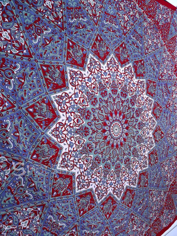 Star Mandala Hippie Tapestry Hippie Mandala Wall by Sparshh