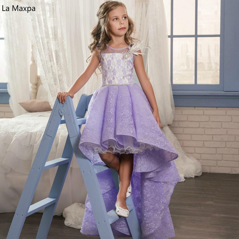 New Fashion Lace Sleeveless Children Wedding Dress Girls Birthday ...