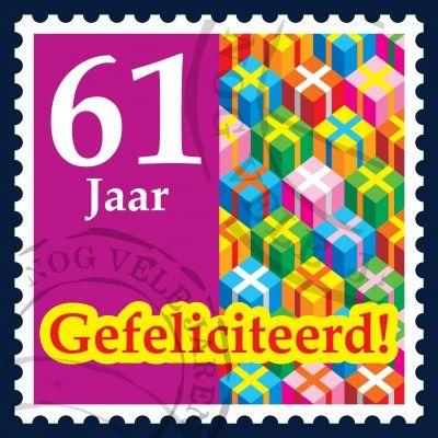 gefeliciteerd 61 418_418_maarten rijnen postzegelkaart 61 jaar. (400×400  gefeliciteerd 61