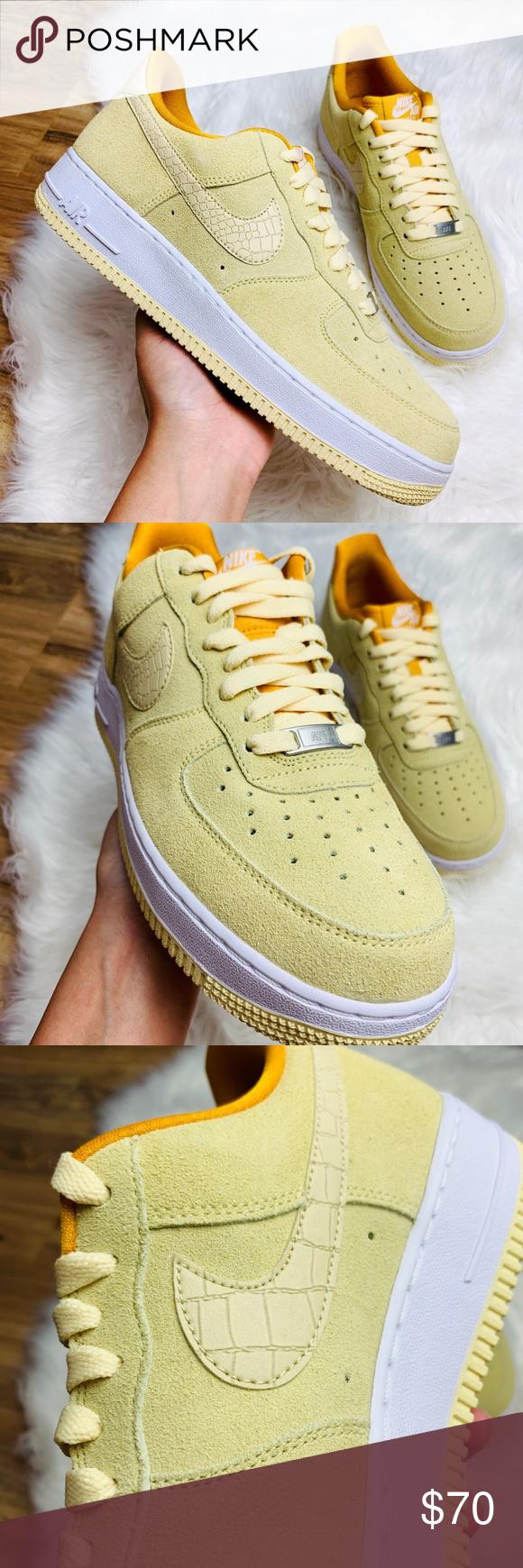 New Nike Air Force 1 07 Seasonal Lemon Drop Suede NWT