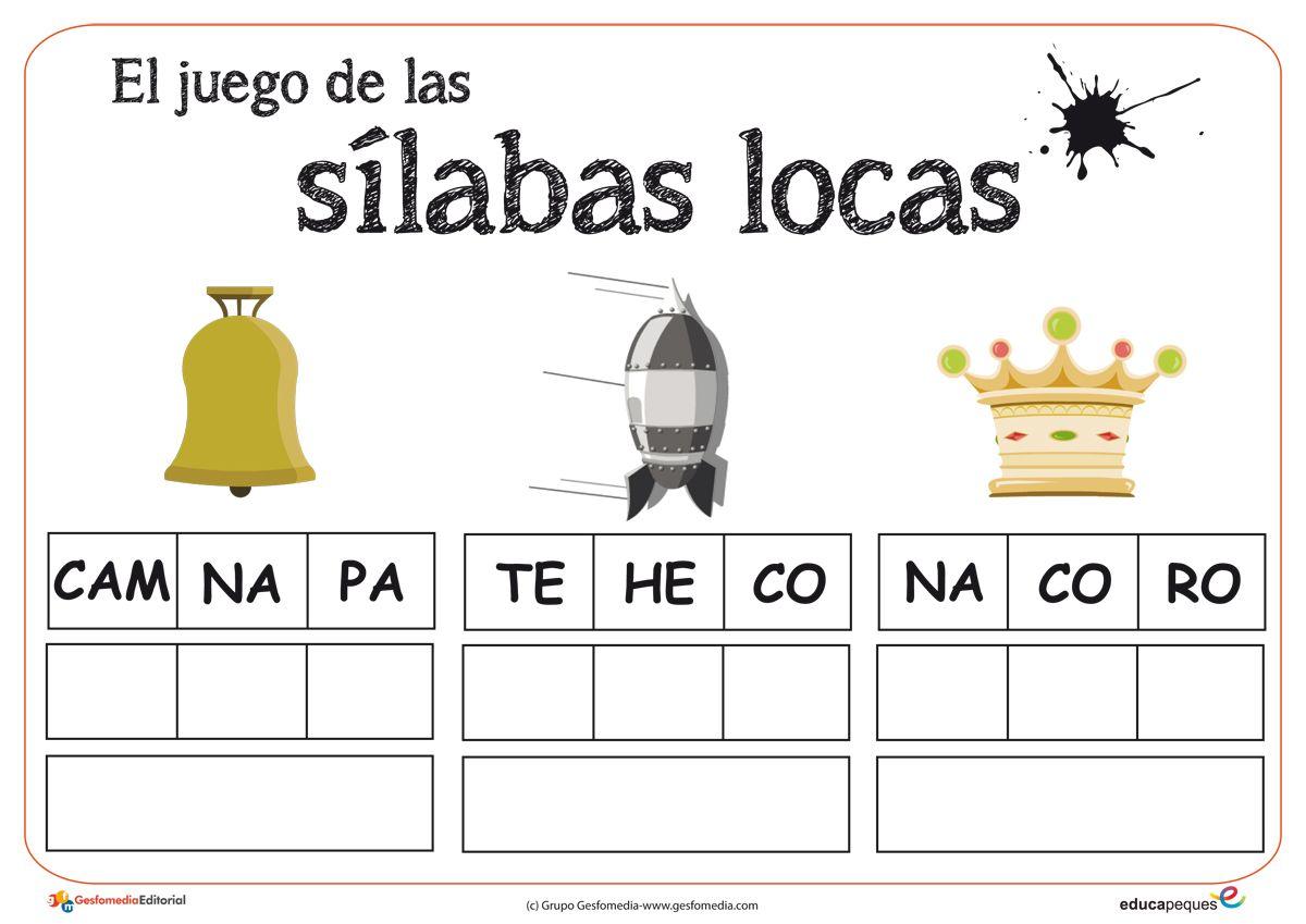 Silabas Locas Juego Para Ampliar El Vocabulario