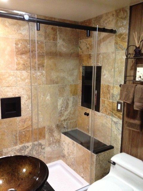 We install bi-fold shower doors, Cottage Series Semi-Frameless ...