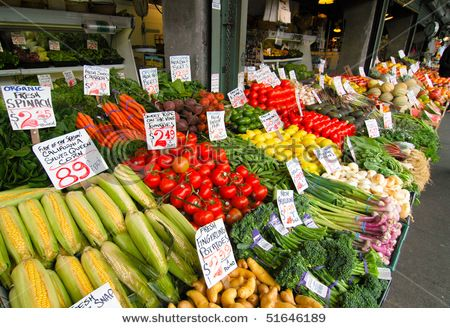 Pike Place Market teeming with locally grown fruit
