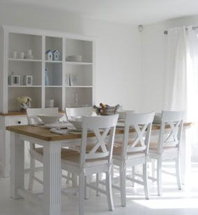 Stylish Dining Tables With Oak Tops And White Legs I Would Love