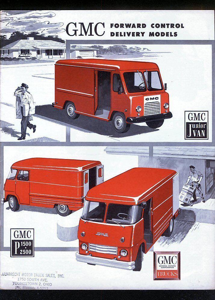 1962 Gmc Delivery Step Vans Dealer Brochure Step Van Gmc Vans