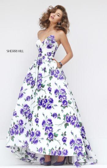 super cute exquisite style brand new Purple Floral Print Prom Dress #floralprint #promdress | Floral ...