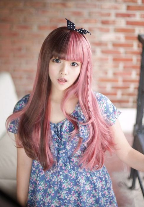 Image result for pink hair asian | Pink Hair | Pinterest | Pink ...