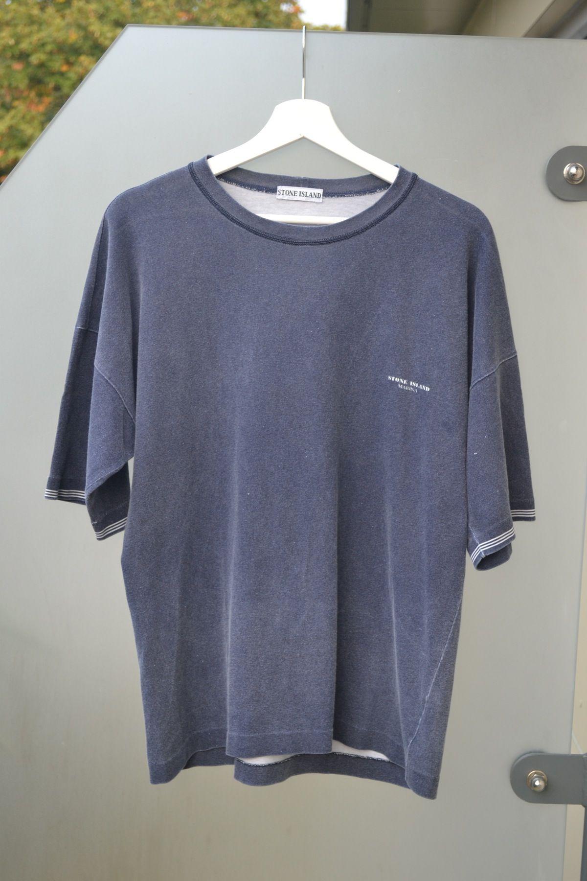 Image Of Vintage 90 S Stone Island Marina T Shirt Long Sleeve Tshirt Men Cool Shirts Mens Tops