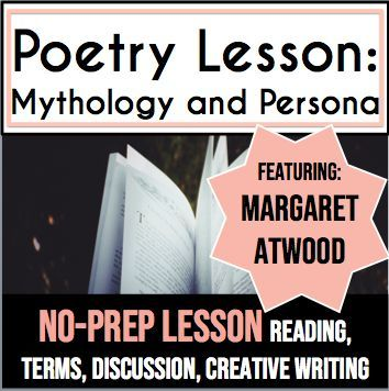 "This lesson uses Margaret Atwood's poem ""Siren Song"" to teach the concept of… #margaretatwood"