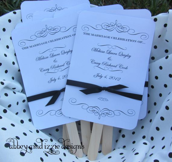 Wedding Hand Fans By Abbey And Izzie Designs On Etsy For