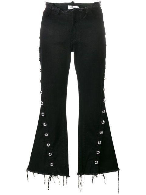 stud-trimmed frayed jeans - Black Marques Almeida Cheap Fashion Style 9I4Wvka