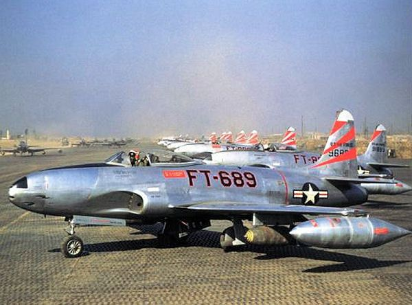 On Nov.1,1950,First appearing 8 Mig-15 intercepted 15 ground supporting P-51 and a P-51 was shot downd, later 3 Mig-15 attacked 10 F-80C Shootingstars. During this World history of 1st Jet-versus -Jet dog fight, USAF 1st Lt. Frank Van Sickle shot downed a Mig-15( later us official announced that accident come from AAA).