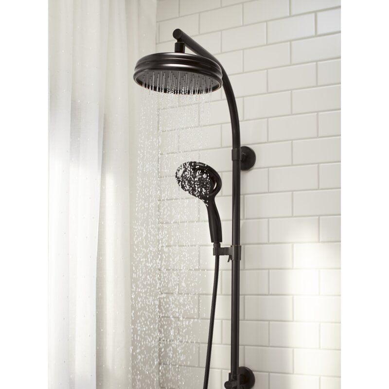 Glen Oil Rubbed Bronze Wall Mounted Rainfall Shower Head With