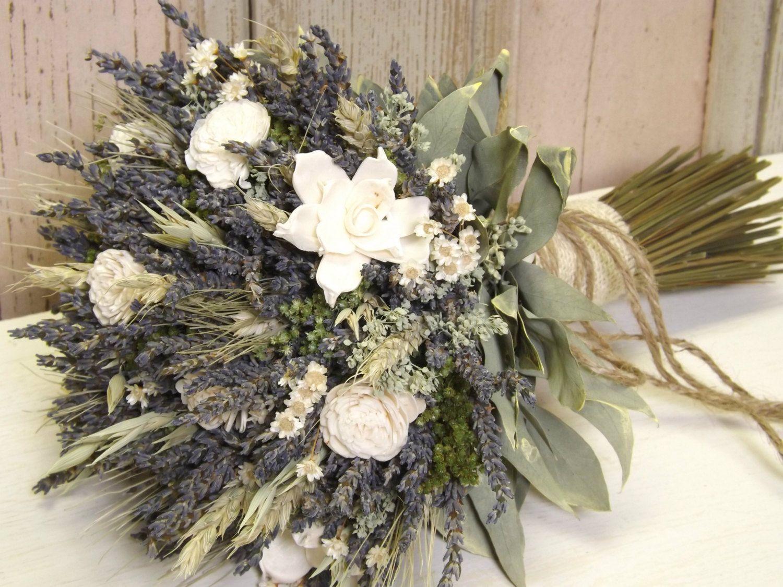 Wheat bouquets weddings flowers wheat sola flower bridal dried lavender dried flowers wheat sola flower bridal bouquet with burlap jute twine izmirmasajfo