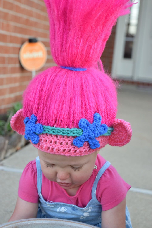 trolls crochet hat trolls hair trolls hat princess poppy babyh kelei pinterest. Black Bedroom Furniture Sets. Home Design Ideas