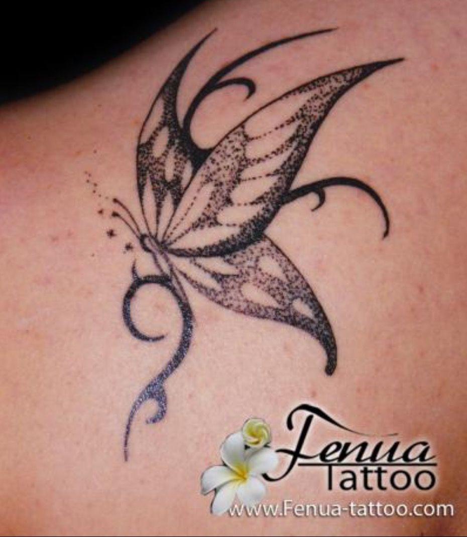 Fenua tatoo papillon polyn sien tatouages - Tribal papillon ...