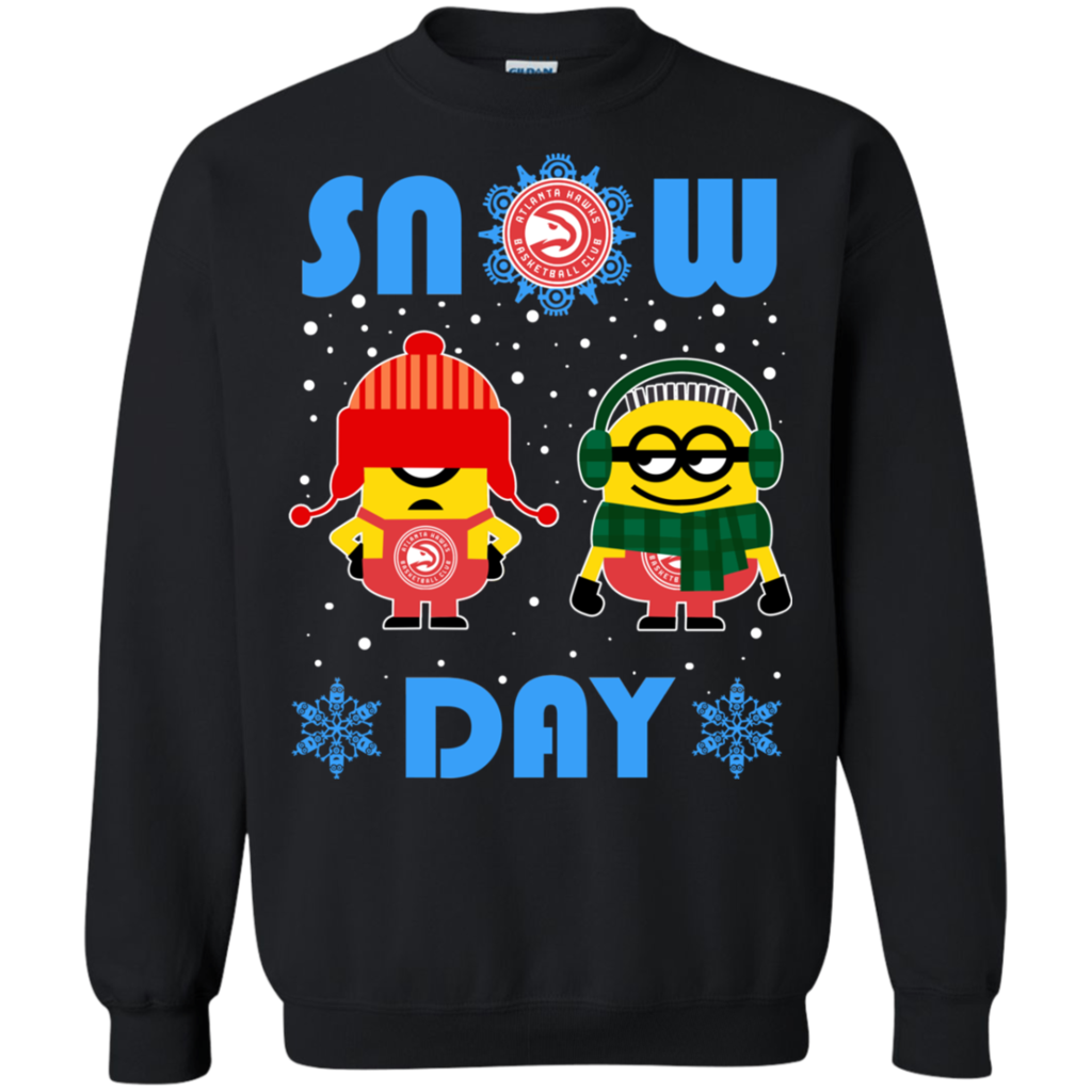 Minion Atlanta Hawks Ugly Christmas Sweaters Snow Day Snowflake ...