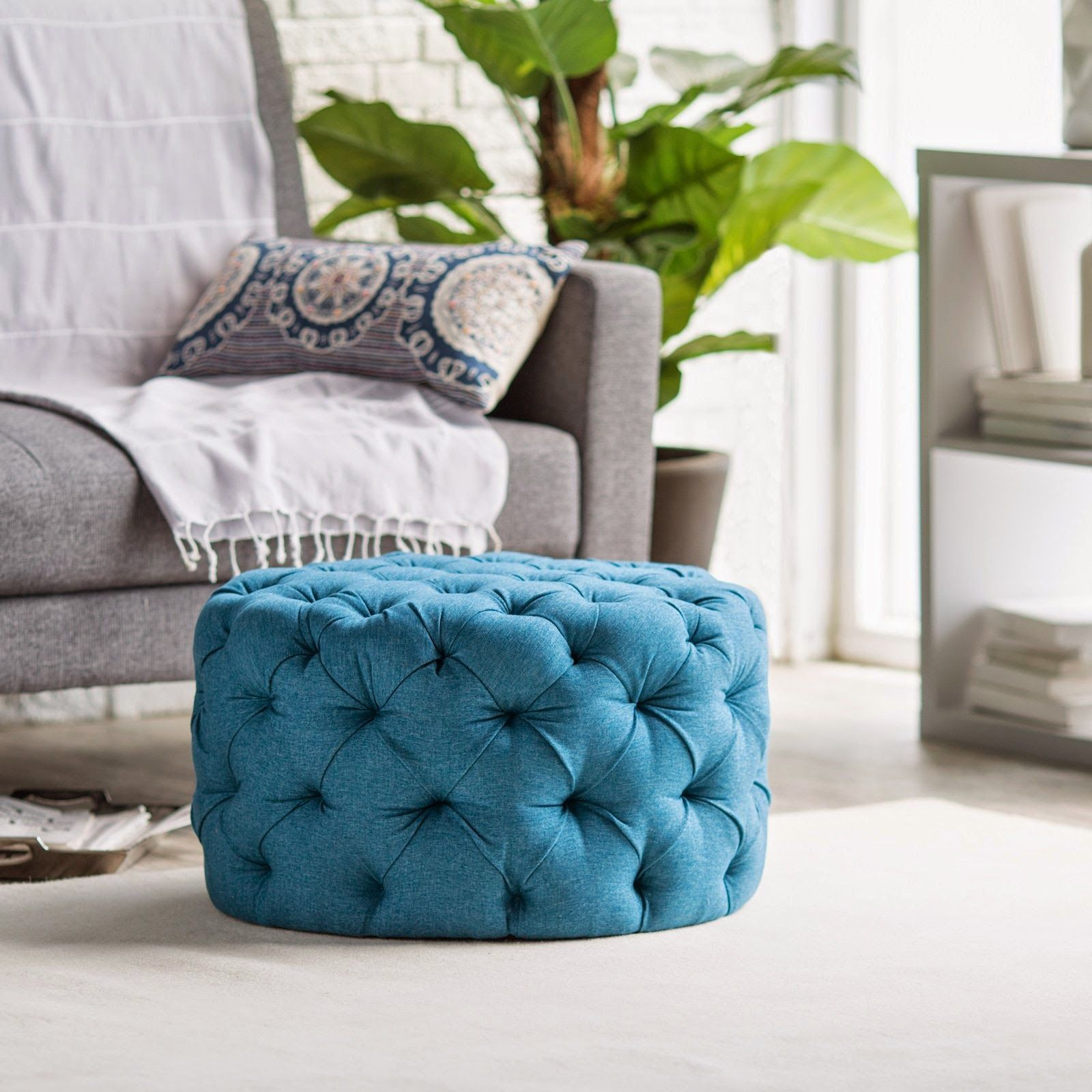 Fabulous Finds Round Tufted Ottoman For Less Than 150